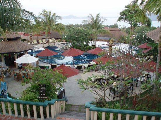 Mangosteen Resort & Ayurveda Spa: Overview of pool area