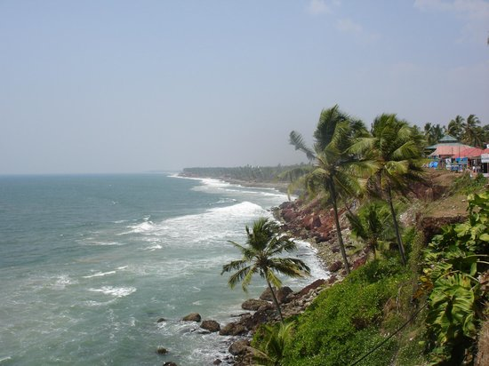 Hindustan Beach Retreat: Varkala Cliff view