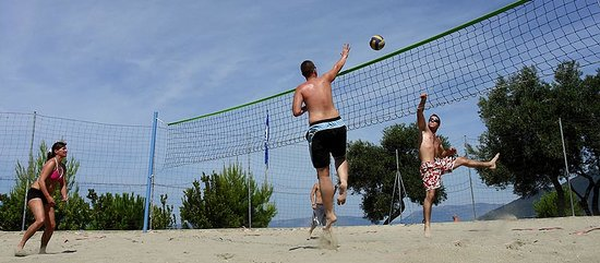 Camp Kovacine: Beach volleyball