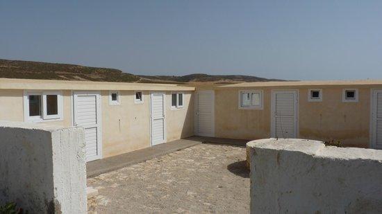 Camping de la Plage: Pavellones con techo de lona