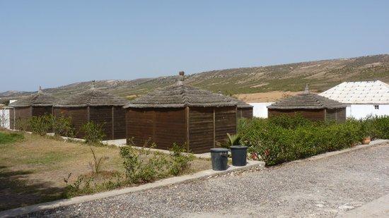 Camping de la Plage: Papillotes o cabañas de madera