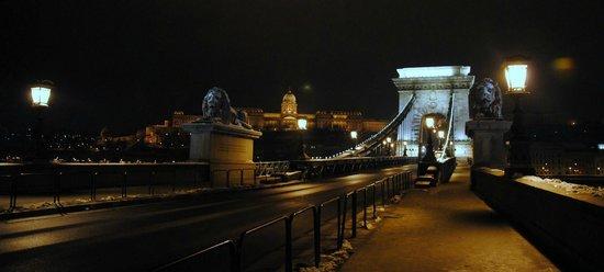 Carlton Hotel Budapest: Szechenyi bridge