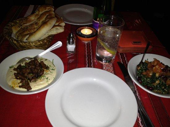 Karma Mediterranean Grill & Bistro: Lamb and hummus and tabbouleh