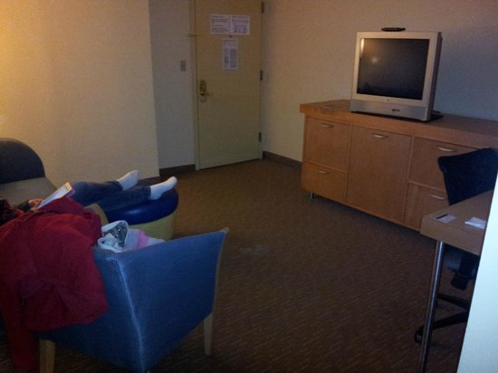La Quinta Inn & Suites Secaucus Meadowlands: carpets rough