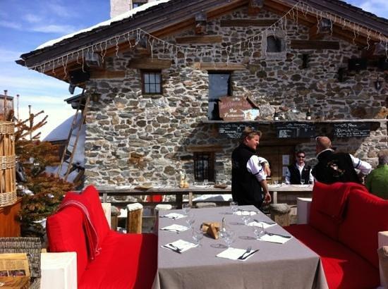 Les Chalets de l'Arc: terrassr