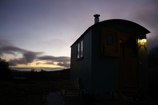 Skye Shepherd Huts: Couldn't have wished for better weather