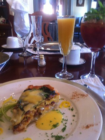 Freemason Inn Bed & Breakfast : Breakfast Quiche
