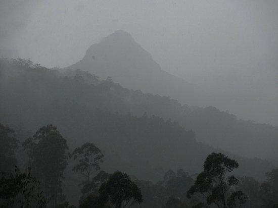 Wathsala Inn : Adam's Peak seen from hotel