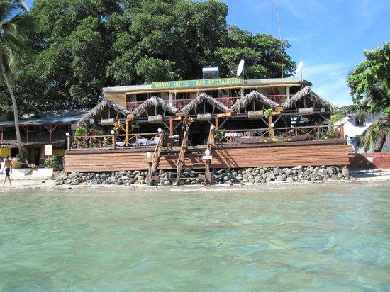 Aviavy Hotel: vue de la mer (grande marée !! )