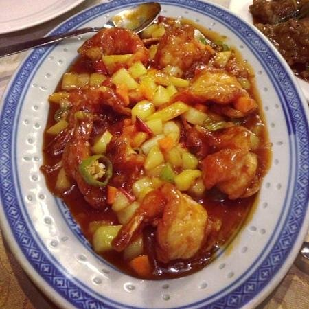 Prawns in sweet and sour sauce 500 rupies picture of first restaurant port louis tripadvisor - First restaurant port louis ...