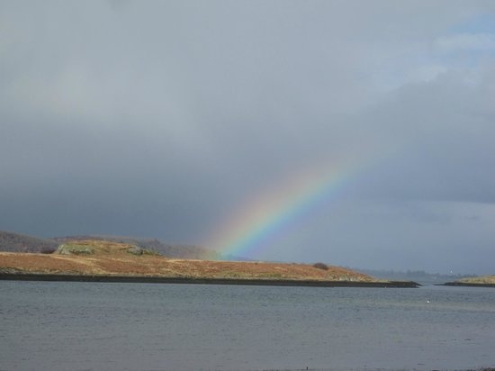 Poppies: Rainbow over Firth of Lorne