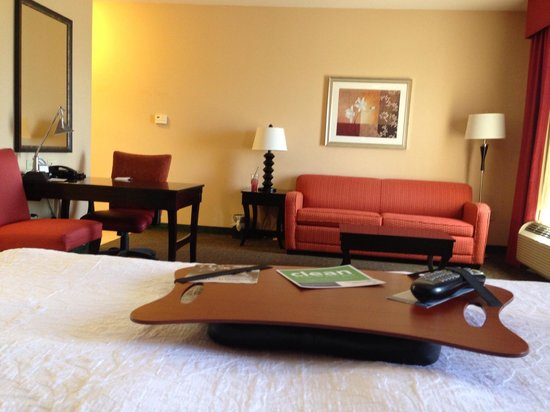 Hampton Inn & Suites Waco South: Talk About a Mini Apartment! Very Nice!