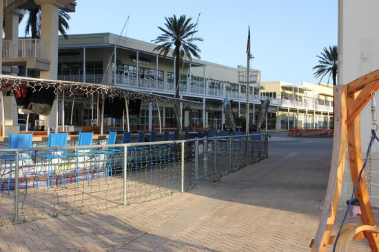 Compleat Angler: The Boat bar (It is lit blue and hopping after dark)