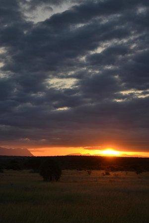 Kambaku Safari Lodge: our first sunset on drive