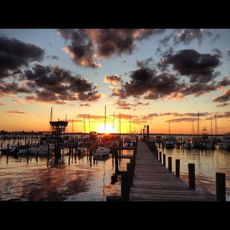 The Harbor Inn & Marina : View from Waterfront Porches