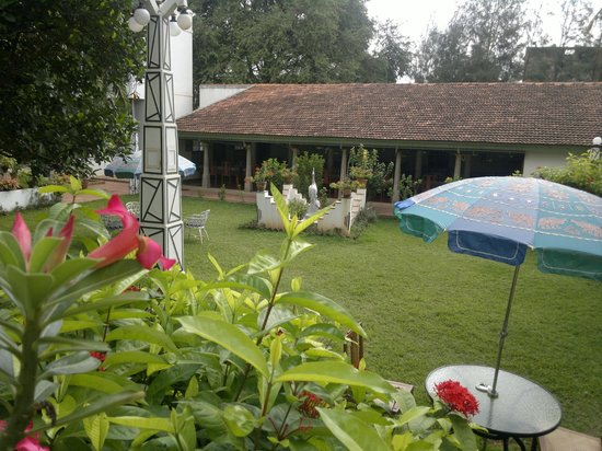 The Bangala: giardino di fronte alla camera