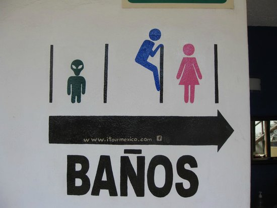 Itour Mexico: Bathroom sign