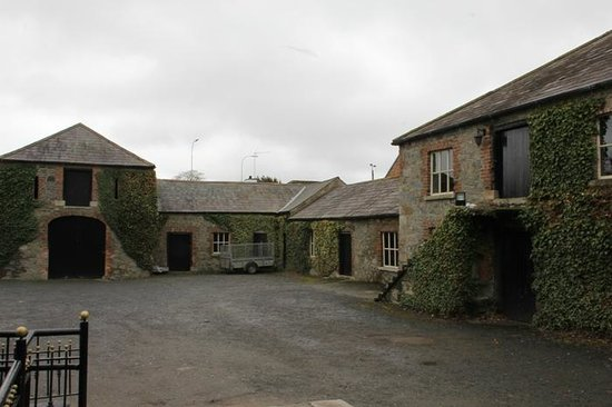 Downshire Arms Hotel: Back entrance, the old coach houses