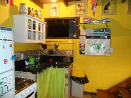Biergarten Hostel: Cozinha