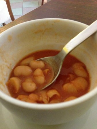 Bistro Deli and Bakery: These were lima beans seasoned with paprika.  Perfect on a cold day!