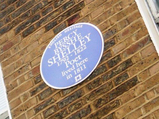 Vasco & Piero's Pavilion Restaurant : Percy Bysshe Shelley lived here in 1811