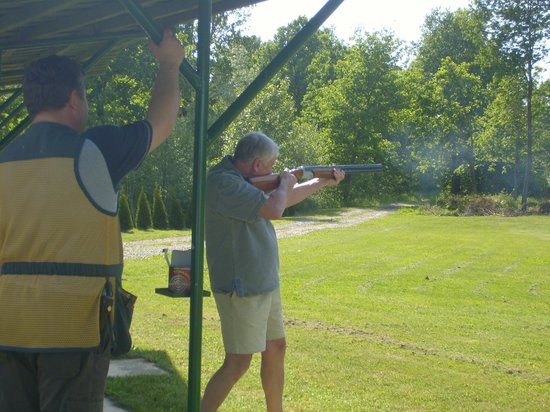 Marusevec, Croatia: Clay pigeon shooting
