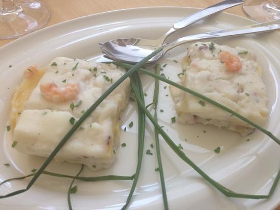 Il Cantico dei Cantici : lasagnette di pesce. una delizia!