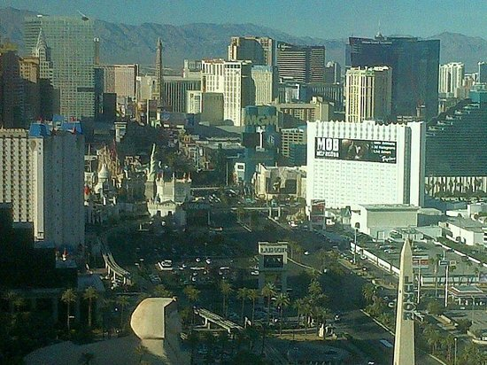 "Four Seasons Hotel Las Vegas: View of ""The Strip"" from the rooom."