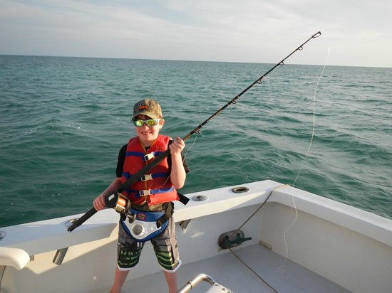 Shark boy picture of captain easy private fishing for Private fishing charters