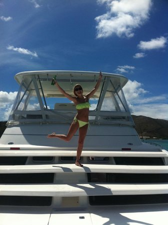Private Yacht Charter SXM - Day Trips: Woohoo - having some fun!
