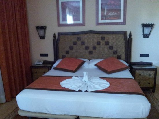 Hotel Riu Touareg  Décoration du lit