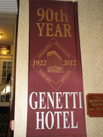 Genetti Hotel - Williamsport: The day we arived was the 90th anniversary
