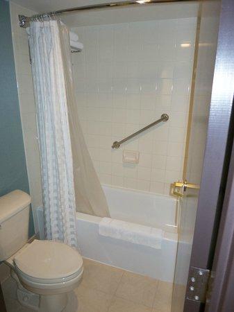 Hyatt Place Kansas City Airport: Tub & toilet