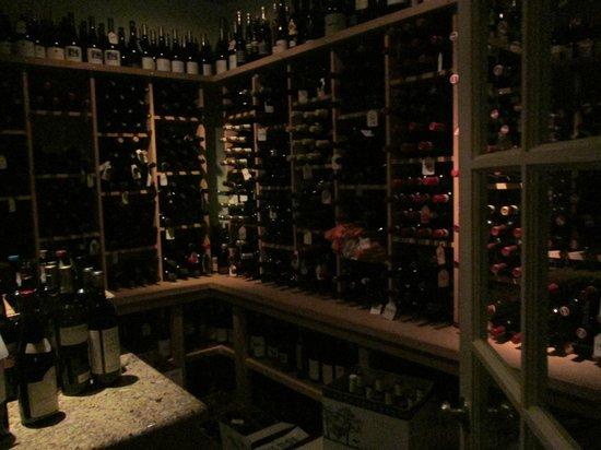 Johannes: Corner of the very extensive wine cellar