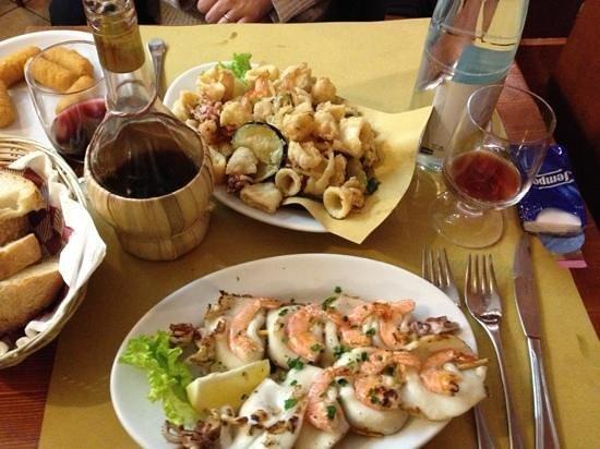Soldano in Duomo: Spiedini e Frittura di pesce