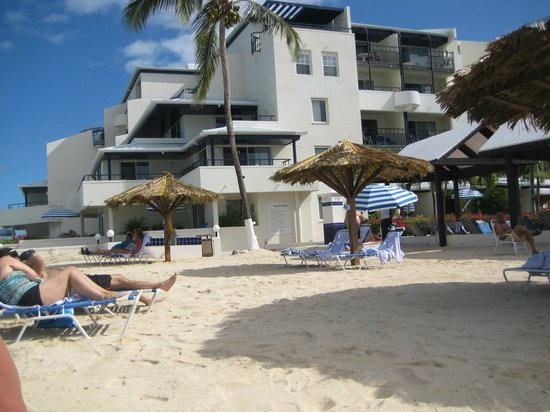 Flamingo Beach Resort: our beach & room