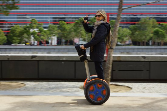 Madsegs Madrid Segway Tours: Having a great time!