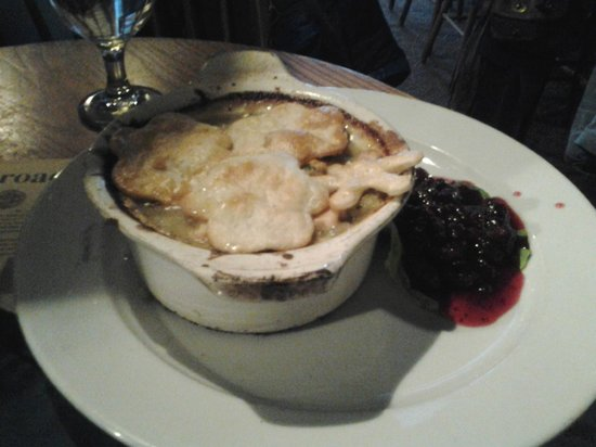 Broad Arrow Tavern: Chicken Pot Pie and Cranberry Sauce