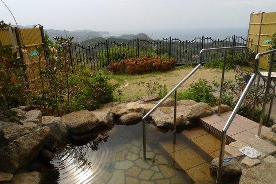 Hotel Bellevedere : 部屋の露天風呂