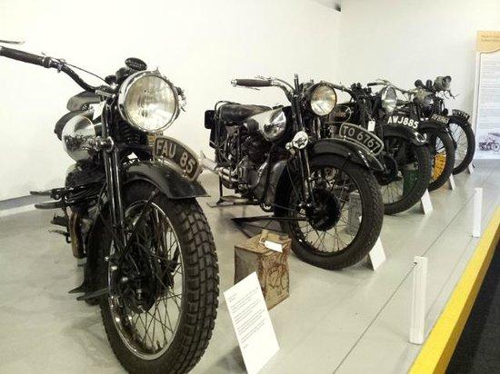 Nottingham Industrial Museum : Motorcyles on display