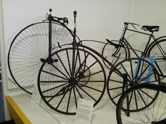 Nottingham Industrial Museum: Early bicycles on display