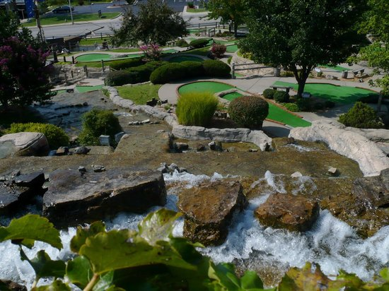 Pirate's Cove Adventure Golf: From on top the Waterfall