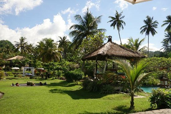 Abalone Resort: beautiful garden with pool