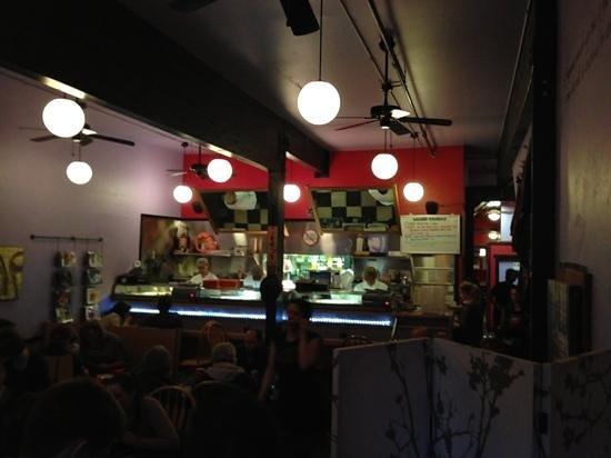 Wasabi Sushi Bar: the roll station.