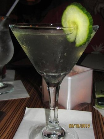 KOCO: Cucumber Martini minus the Hendricks.  snifff, snifff