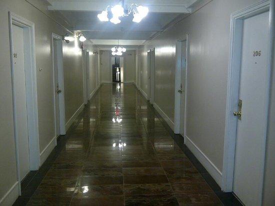 Barclay Hotel: newly renovated hallway
