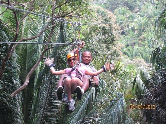 Caribe Sky Canopy Tour : as brave as I get!