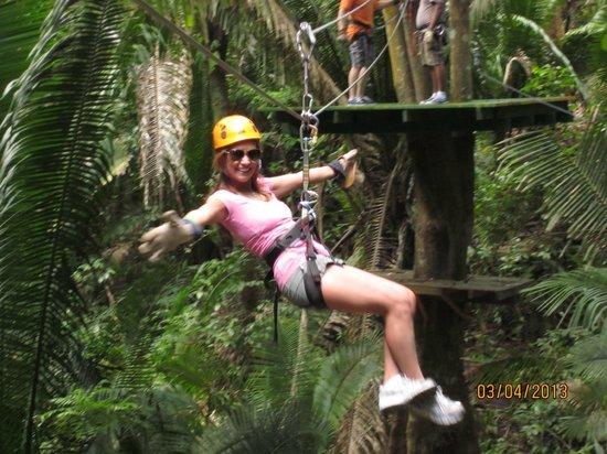 Caribe Sky Canopy Tour : I've got this!!
