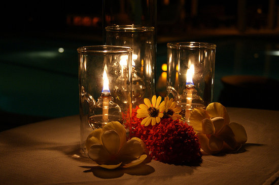 Barefoot Cay Resort: Candlelight dining