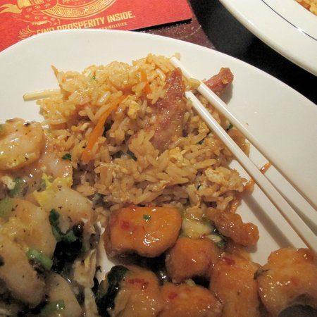 Pappadeaux : Shrimp in Lobster Sauce & Chang's Spicy Chicken w Rice